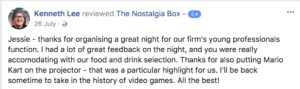 The Nostalgia Box Corporate Event