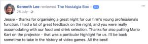 The Nostalgia Box Corporate Event