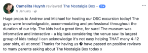 The Nostalgia Box School Holiday Program