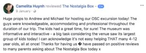 The Nostalgia Box School Holiday Program
