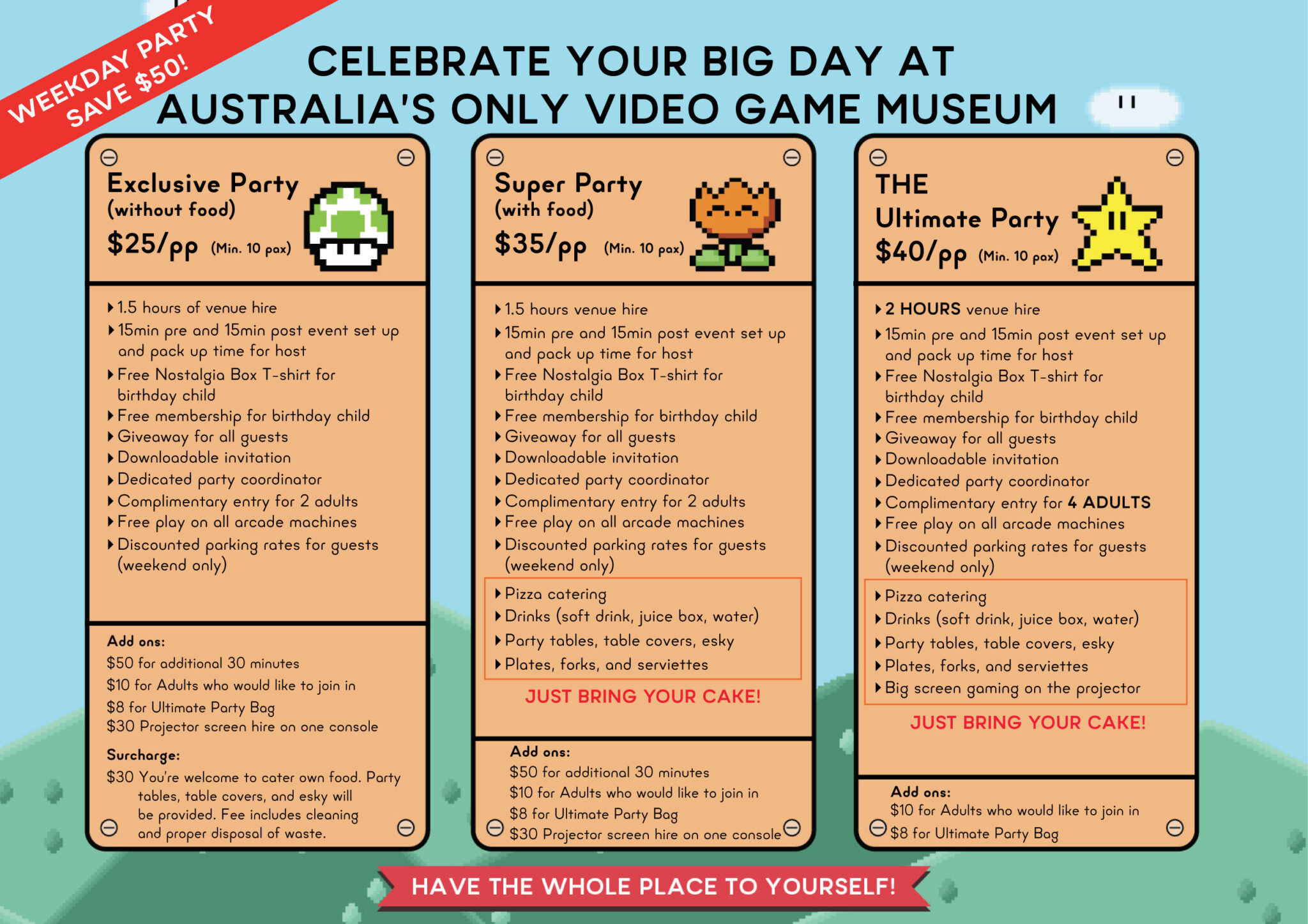 The Nostalgia Box Children Party Packages