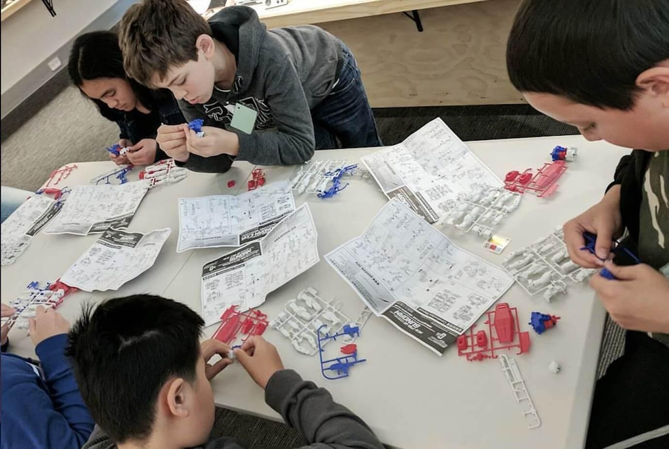 Gundam making - School Holiday program - The Nostalgia Box