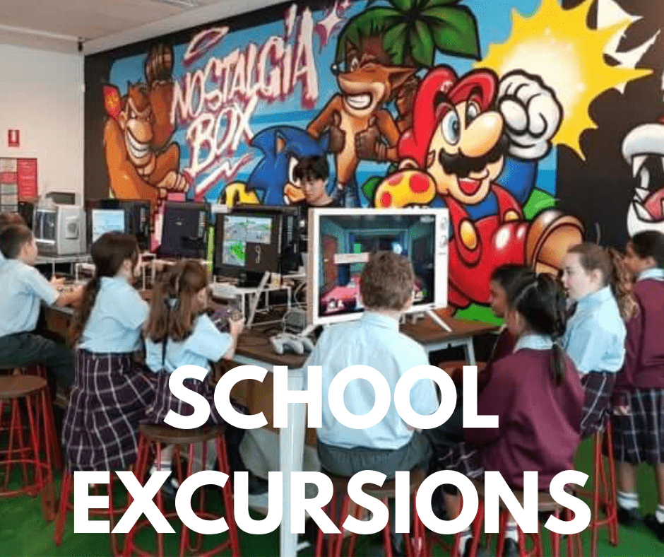 School Excursion- The Nostalgia Box - Perth City -Museum - - Learning Gaming History Through Play