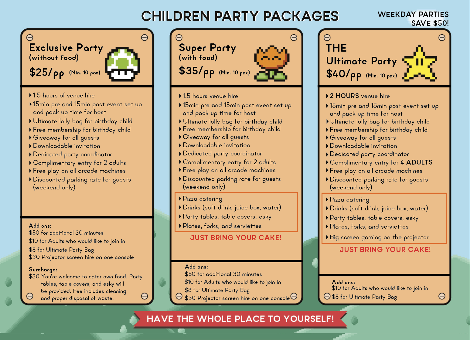2019 Children Party Flyer - The Nostalgia Box