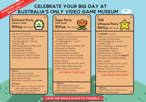 Children Party Package - The Nostalgia Box
