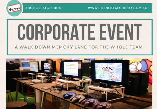 The Nostalgia Box - Weekday Corporate Event Flyer - Party Packages