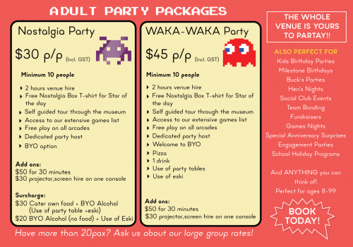 The Nostalgia Box Adults Party Package